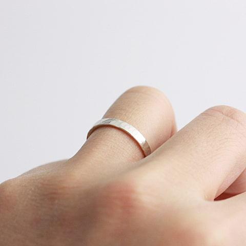 3.0mm太さのリングをつけた写真